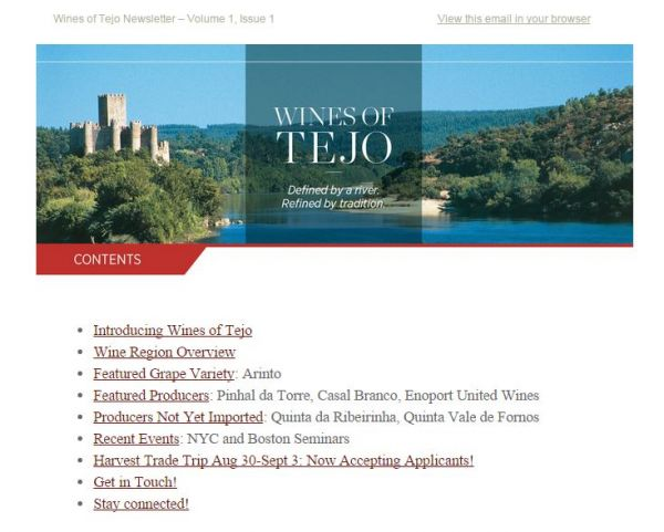 Wines of Tejo: Defined by a River. Refined by Tradition. Issue 1.1